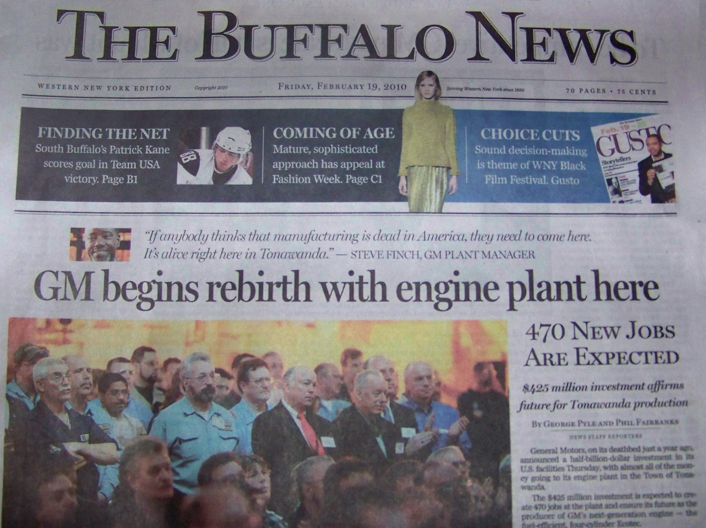 General motors promises new jobs for half the wages at for General motors annual report 2010