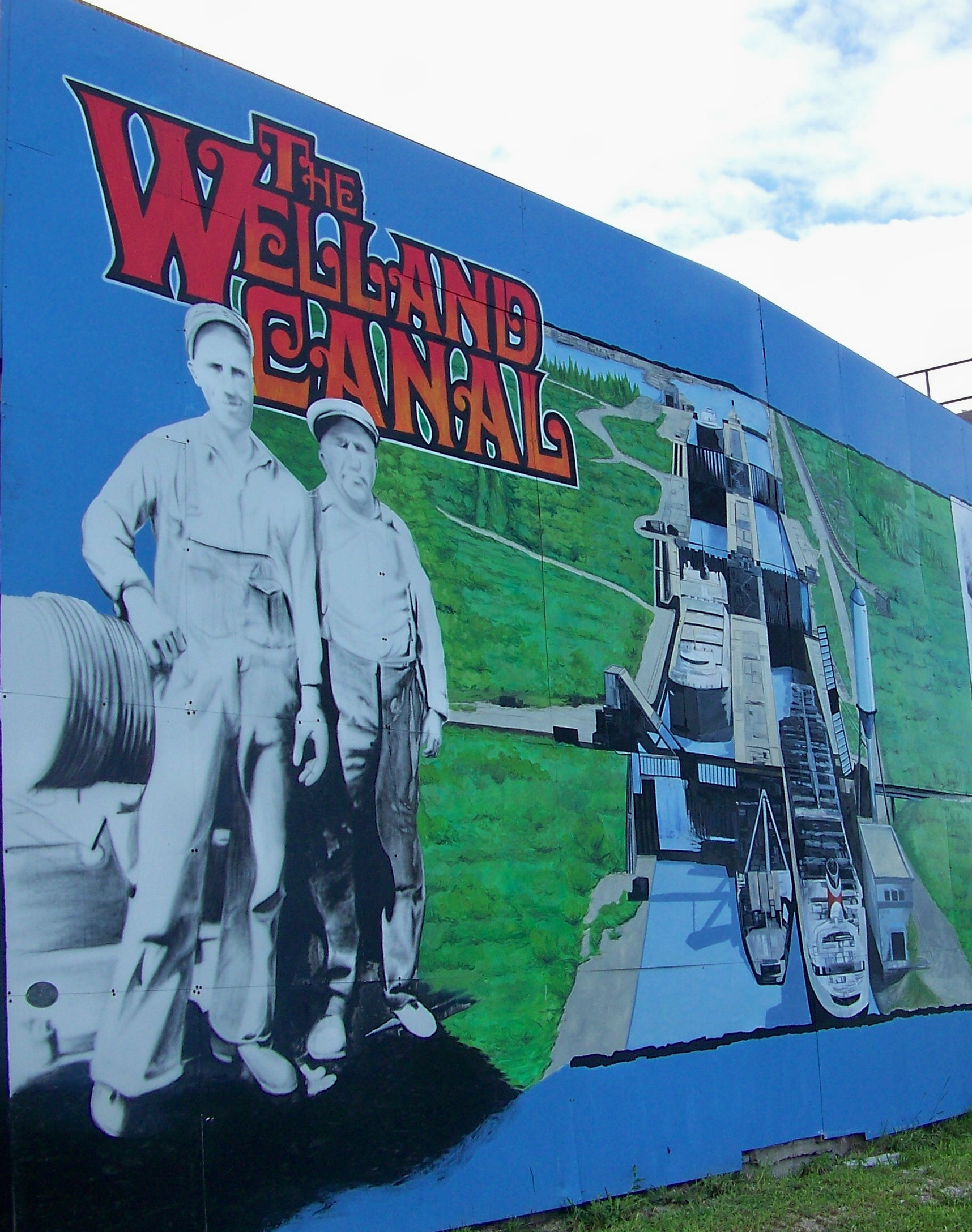 Welland canal group holding fundraiser to repair for Canal fluminense mural