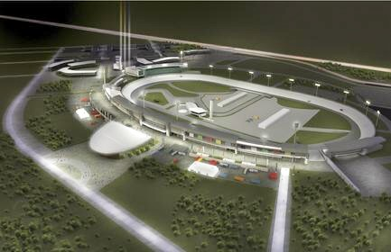 Area Auto Racing Tracks on Rendition Of Proposed Nascar Race Track For Fort Erie  Ontario