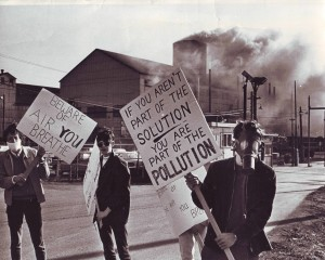 My first Earth Day - the first in the world - in Welland, Ontario on April 22, 1970