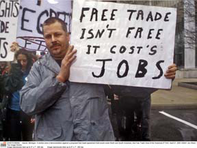 Demonstration Against the Proposed Free Trade Area of the Americas (FTAA)
