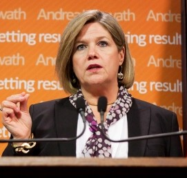 Ontario NDP Leader Andrea Horwath wants to put a lid on Public Sector CEO salaries