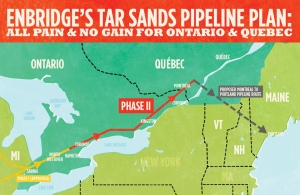 Ontario is allowing this Line 9 Pipe to run tar sands toxics through the heart of our freshwater Great Lakes region.