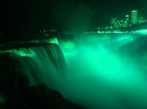 The Niagara Parks Commission and its partners usually only turn great lights on the great Falls of Niagara for St. Patrick's Day. This Wednesday, April 16th marks a special exeption for Jim Flaherity on the occasion of his state funeral. in Canada.