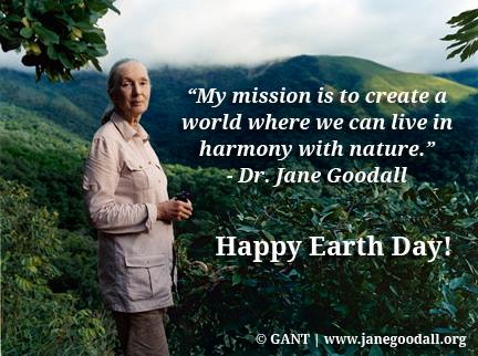 jane goodall earth day