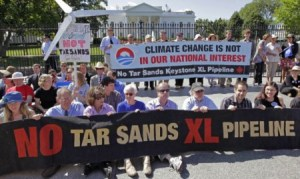 One of many protests near White House in past year over Tar Sands pipeline