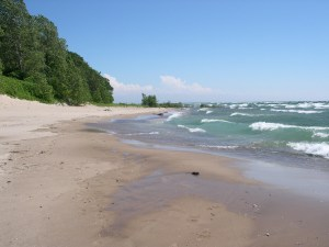 A stretch of beautiful Lake Erie shoreline in the Point Abino area. Photo couresy of the Bert Miller Nature Club