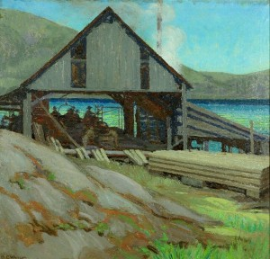 Mary E. Wrinch, Sawmill, Dorset, c. 1936, Collection of the Art Gallery of Windsor. Image courtesy of Riverbrink Art Museum