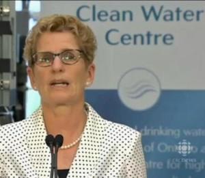 Ontario's Premier Kathleen Wynne returns to site of Walkerton drinking water disaster