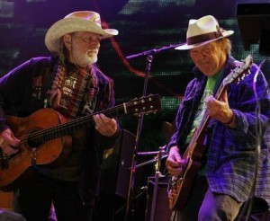 Willie Nelson and Neil Young workng together against Canada's tar sands poison pipe