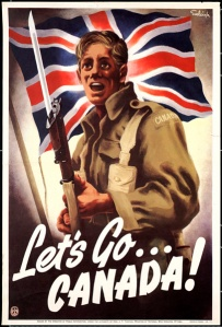 A Canadian war poster for World War One. Multi-thousands of them never came back alive, and for what and for why?