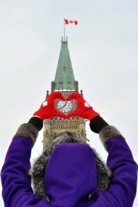 The Peace Tower overlooking Canada's capital city of Ottawa