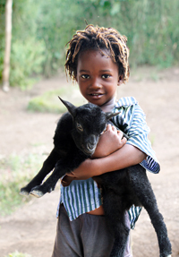 The gift of a goat can help keep a family in need alive.