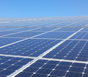 Solar panels at work producing green energy in other parts of the world.