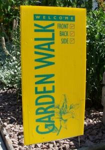 garden walk sign