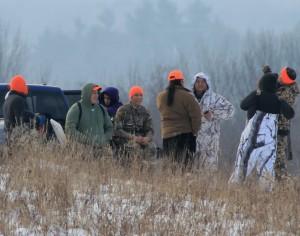 A gathering of Native hunders at Short Hills Provincial Park in Niagara, Ontario