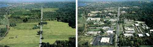 Ontario may be ready to spare more green places like the one on the left from what became of it on the right.
