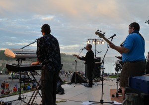Band performs concert near mist of the Falls. File photo courtesy of Niagara Parks Commission