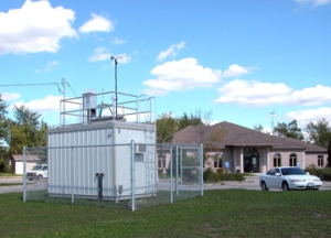 One of many air quality monitoring stations operated by the Ministry of Environment & Climate Change in Ontario.
