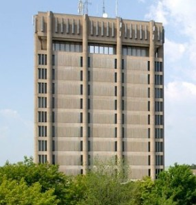 The Brock Tower looming over the university's St. Catharines, Ontario campus.