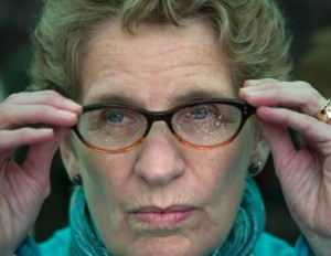 Ontario Premier Kathleen Wynne, who most of us aren't wealthy enough to buy access to.