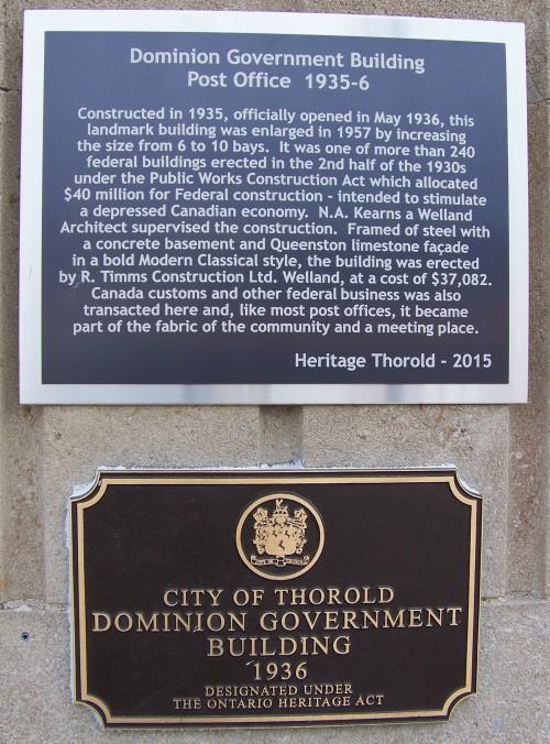 thorld post office plaque
