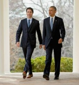 Canada's Prime Minister Justin Trudeau and U.S. President Barack Obama talk climate change/trade this March 10th, 2016 at White House