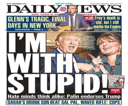 trump palin with stupid