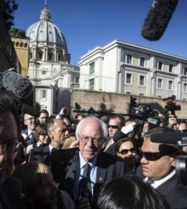 Bernie Sanders at Vatican City