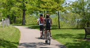 Cycling the trails along the scenic Niagara, Ontario Parkway