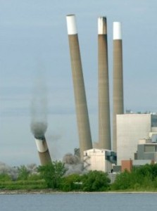 One of Ontario's huge coal-fired plants demolished a decade ago.