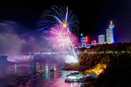 Fireworks over the Falls. Niagara Parks file photo