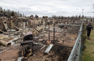 One of countless of images coming out of the Fort McMurray, Alberta area showing homes and businesses devastated by fire.