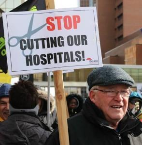 hospital cuts rallies