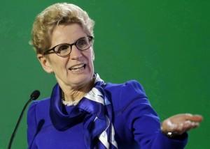 Ontario Premier Kathleen Wynne making a point