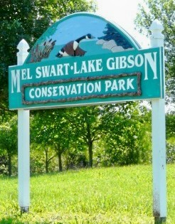 A conservation park along the shores of Lake Gibson in Thorold, the Niagara community where Mel Swart lived and fought to (among other things) lay the groundwork for Niagara's internationally recognized Greenbelt, aimed at protecting what is left of the region's precious tender fruit and grape growing lands from sprawling development.