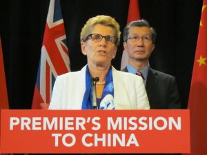 "When Ontario Premier Kathleen Wynne or any of her Ministers go to China or any other country to cut deals ""on our behalf,"" be afraid - be VERY afraid! ... We are already learning that the hard way."