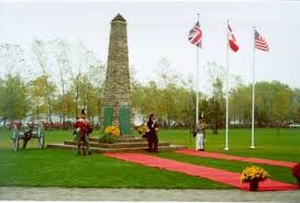 A Commemoration ceremony at the Battle of Chippawa memorial. File photo from Niagara Parks