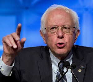 Vermont Senator and U.S. presidential candidate Bernie Sanders