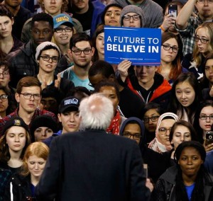 At a Bernie Sanders campaign stop in Buffalo this spring - attended by more than 10,000