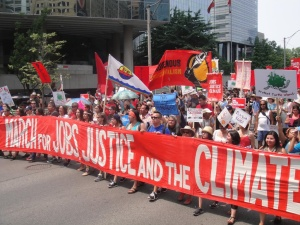 One of many climate marches in Ontario in recent years.