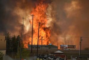 Wildfires raging in Alberta, Canada's tar sands region