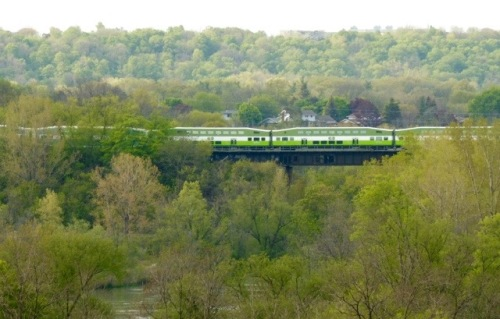 Go Train running through the Greater Toronto Area.