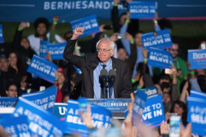 "Bernie Sanders fights on for ""a future to believe in."""