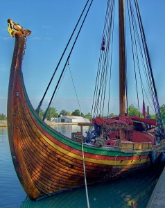 Viking ship docked along Welland Canal in Port Weller July 5th, 2016 - Photo by Doug Draper