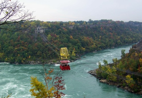 Aero Car glides over Whirlpool and Niagara Falls downstream from the world-famous Falls. File photo by Doug Draper
