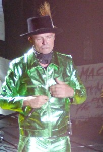 Gord Downie performing on stage with the Hip this August 8th in London, Ontario. Photo by Kelly Robson.
