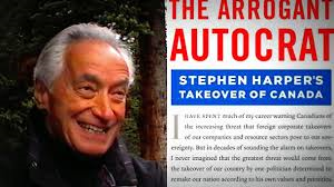 Mel Hurtig and a scathing book he wrote about then Canadian prime minister Stephen Harper