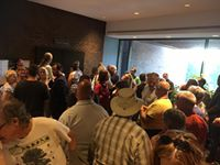 Residents packed into Niagara Falls council chambers shortly before the council decides to reschedule a public meeting on the Thundering Waters Forest issue at a later date in a larger venue. This photo on Facebook of Niagara resident Karrie Porter