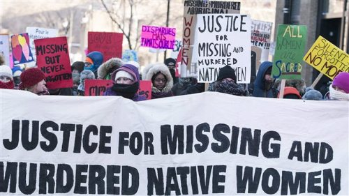 One of numerous rallies failed to convince Canada's former Harper government to launch an inquiry into what happened to more than 1,000 missing indigenous women and girls